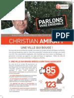 "Tract Christian Amiraty n°4 Parlons ""Vivre ensemble!"""