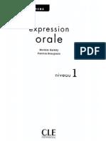 Expression Oral - Niveau 1
