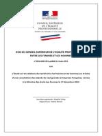 AVIS Du CSEP Sur Les Relations de Travail Femmes Hommes 4 Mars 2014 Version Finale Docx