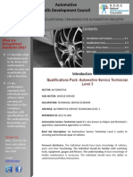 Automotive Technician Level 3 NSDC  NOS Brochure