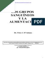 Grupos Sanguineos y Alimentacion - Peter J. D Adamo