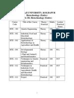 B.sc III Entire Biotechnology