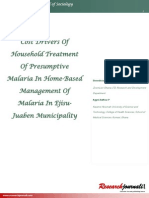 COST DRIVERS OF HOUSEHOLD TREATMENT   OF PRESUMPTIVE MALARIA IN HOME-BASED MANAGEMENT OF MALARIA IN EJISU-JUABEN MUNICIPALITY