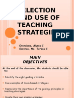 Selection and Use of Teaching Strategies