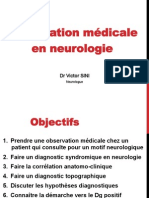 Observation en Neurologie 2013