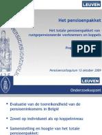 Het Totale Pensioenpakket Van Rustgepensioneerde Werknemers en Koppels (Prof. Dr. J. Berghman)