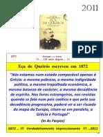 Eça Queirós_Sempre actual_1872 - 2011