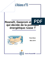 Rosneft, Gazprom et l'État