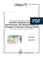 Rosneft, Gazprom and the Government