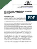 AbL-Tipps fuer den Widerstand gegen Agrarfabriken