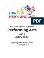 acting assignment brief learning aim b