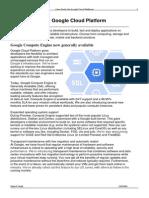 Case Study on Google Cloud Platform