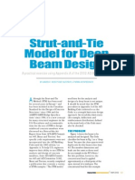 Strut and Tie Model for Deep Beam Design (to ACI Building Code)