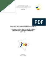 CADRU DE IMPLEMENTARE Al PROGRAMULUI OPERAłIONAL SECTORIAL
