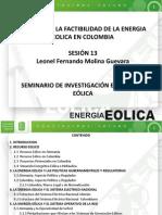 13 Analisis de La Factibilidad de La Energia Eolica en Colombia