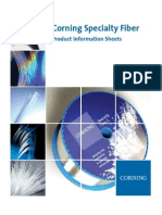 Corning Specialty Fiber Product Information Sheets 111913