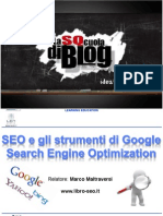 Slide - SEO e Gli Strumenti Di Google