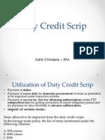 Duty Credit Scrip