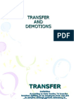 Transfer and Demotion