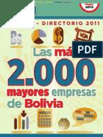 Las Mayores Empresas de Bolivia 2011