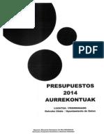 Ayuntamiento Getxo - Presupuesto Prorrogado 2014