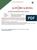 Anunt Liceu Burse Rusia