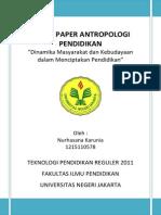 Tugas Paper Antropologi Pendidikan