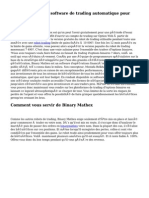 Binary Mathex, un software de trading automatique pour tous