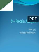 FDSC 4763 Ch 9 - Protein Analysis