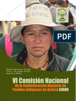 Memoria VI Comision Nacional CIDOB