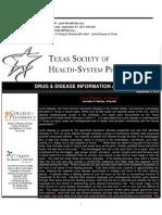 9-3-13 Drug Info Alert - Lyme Disease