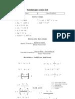 Formulario Para Examen Final FISICA 1