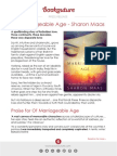 Of Marriageable Age by Sharon Maas | Bookouture Press Release 2014