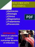 DESNUTRICION EMBARAZO