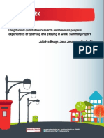 Keeping Work Summary Report Longitudinal Qualitative Research on Homeless People s Experiences of Starting and Staying in Work Summary Report