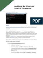 Reparar archivos de Windows dañados con sfc