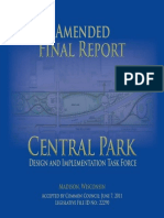 Madison Central Park Amended Final Report 060711