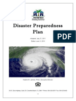 Disaster Preparedness Plan 6 2013