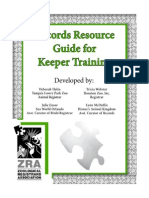 Records Resource Guide for Keeper Training w Bookmarks