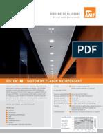 Amf 625 Amf Sistem de Plafon Autoportant System f Ro