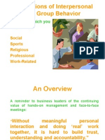 Foundations of Interpersonal and Group Behavior