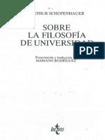Sobre la filosofía de universidad, Shopenhauer