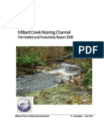 YER Millard Creek Rearing Channel Report 2008