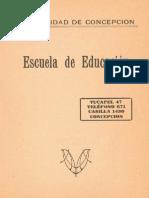Escuela de Educación. Universidad de Concepción. 1930