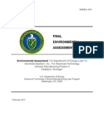 Severstal Environmental Assessment and DOE Loan Application 2010