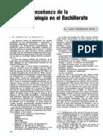 La enseñanza de la sociología en el bachillerato