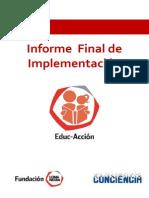 Informe Final Educaccion Año 2013