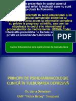 Principii de Psihofarmacologie in Tulburarea Depresivs