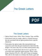 Option Greeks 2013