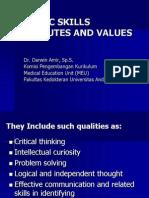 Generic Skills Attributes and Values